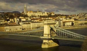 Mineral Baths, Chain Bridge, Budapest, Hungary