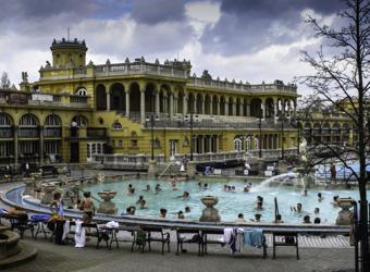 Healing Mineral Baths, Budapest, Hungary