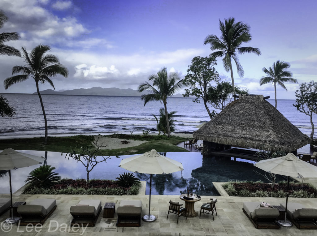 Oceanfront patio and pool, Nanuku Auberge Resort, Fiji