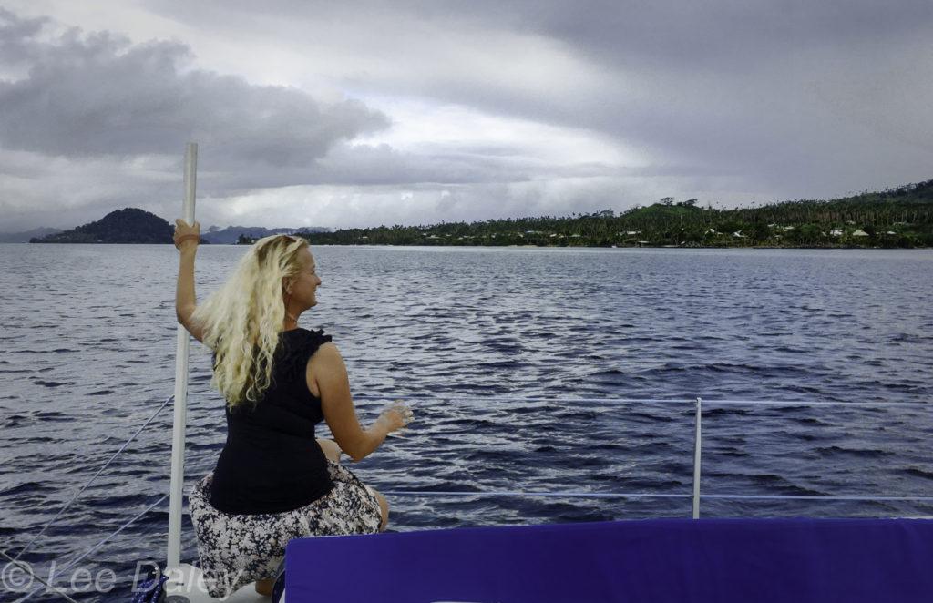 Vacala Bay Resort, Fiji, catamaran sailing