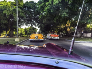 Fifties American automobiles downtown Havana, Cuba