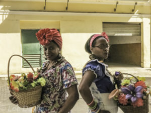 Havana, Cuba, flowers for sale.