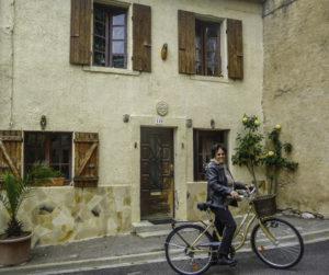 Biking, Toulouse, historic canal barge, Anjodi, Canal du Midi, Toulouse, Francel du Midi