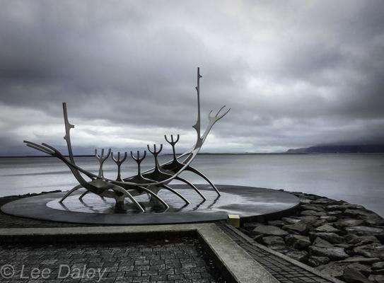 Icelandic Viking Democracy,Reykjavik, Iceland, Sun Voyager sculpture