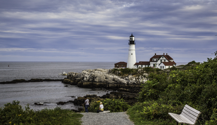 Fall Foliage, New England, Maine, Lighthouse