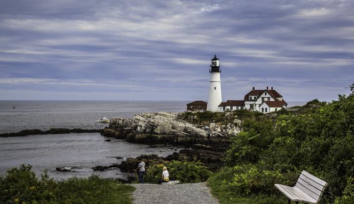 Fall Foliage, New England, Maine, Lighthouse