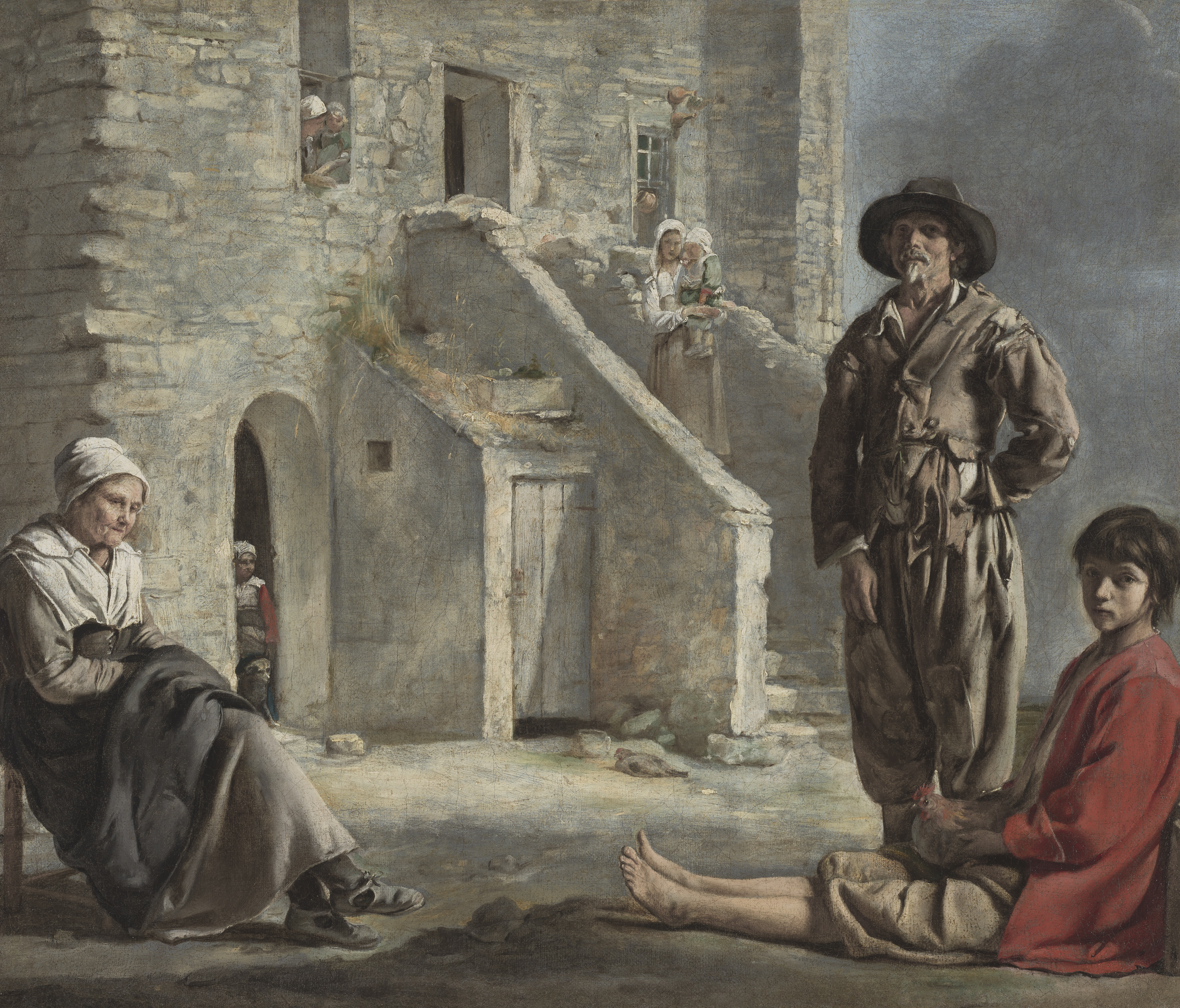 """Peasants before a House,"" by The Brothers Le Nain, Legion of Honor Museum, San Francisco"