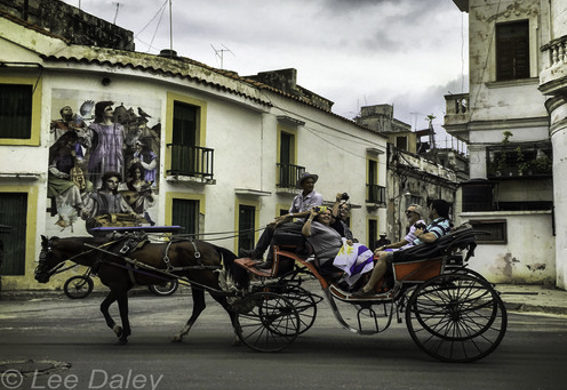 Noted Travel Journalist Chris Baker, Havana, Cuba, Carriage Ride