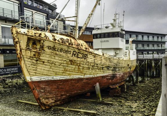 Old Harbor, Reykjavik, Iceland, fishing trawler