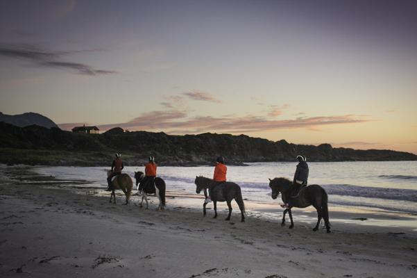 Norway, beach ride, Midnight Sun Looten Islands
