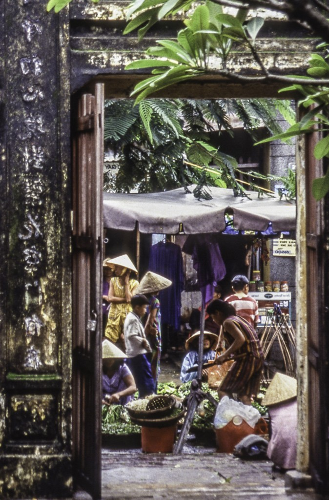 Vietnam, Hanoi, Vietnamese conical hats, alley market