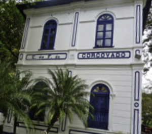 CorcovadoTrain Station for the cog railroad to Cristo Redentor in Rio de Janeiro