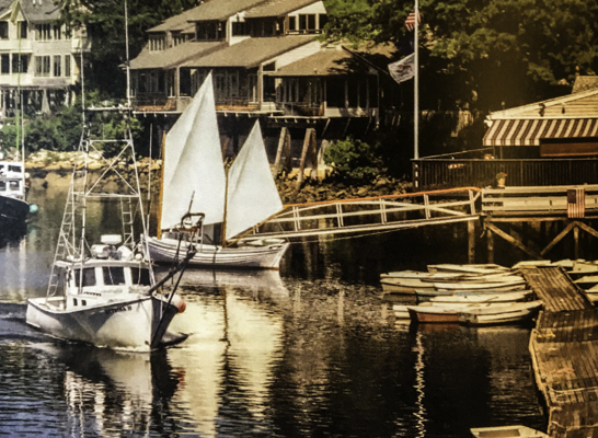 Taste of Travel, Perkins Cove, Ogunquit, Maine where lobster is king. I ate at Barnacle Billy's for the best seafood and lobster on the coast, Head Down East for Maine Lobster,Bay Area Travel Writers 2017 publication Taste of Travel