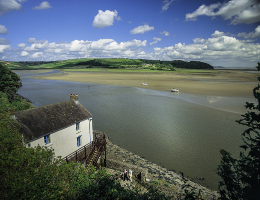 Dylan Thomas Boathouse in Laugharne, one of the historic sites and houses in Wales