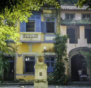 Rio de Janiero High, Carmen Miranda once performed at a casino in this area and lived in a home here, This photo depicts Cosme mansions near where she lived.
