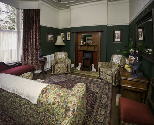 The parlour of Dylan Thomas birthplace in Swansea, Wales