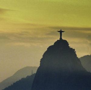 Velho Cristo seen from Pao de Acucar SugarLoaf in Rio de Janeiro