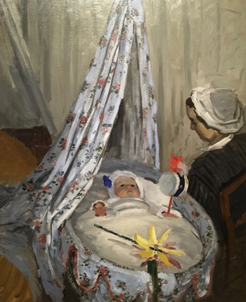 The Cradle from Monet the Early Years exhibit at the Legion of Honor, San Francisco, CA
