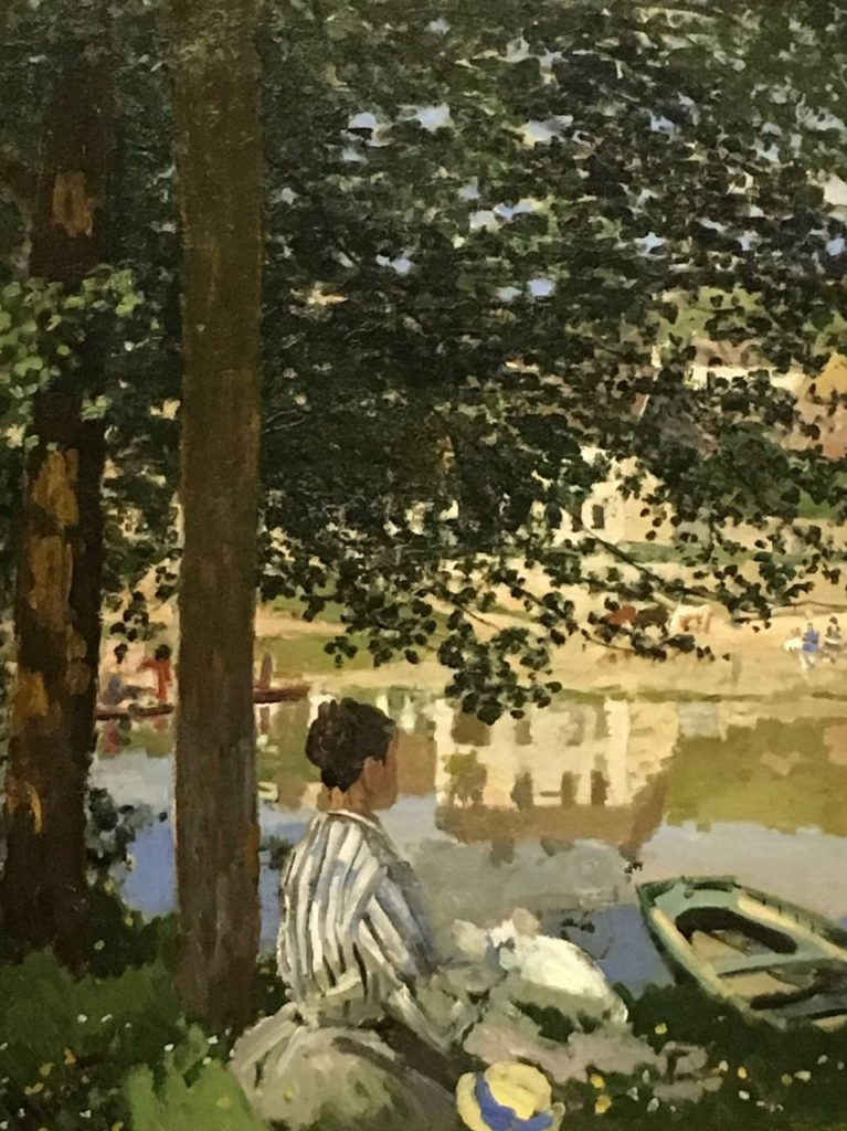 On the Bank of the Seine, Bennecourt (1868) from the Monet Early Days exhibit at the Legion of Honor, San Francisco, CA.