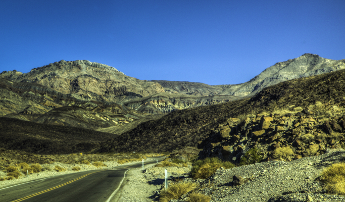 Entering the Panamint Mountains on Hwy-178 to join Hwy-190 into Death Valley National Park