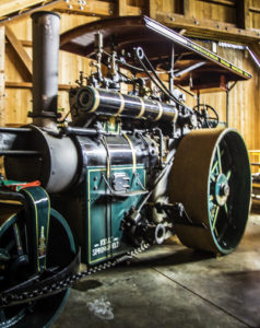 Restored Kelly Springfield steam engine, Roots of Motive Power, Willits, California