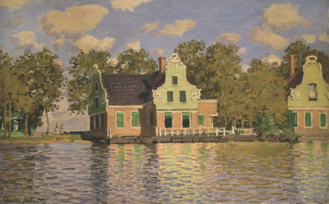 Houses by Zaan at Zaandam (1871) from the Monet Early Days exhibit at the Legion of Honor, San Francisco, CA