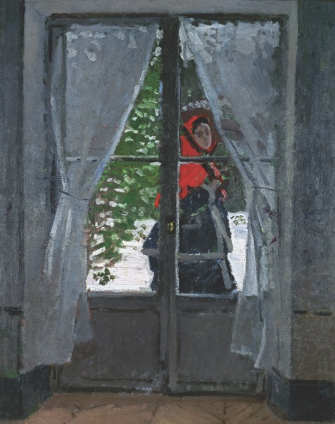 The Red Kerchief (1869) from the Monet Early Days exhibit at the Legion of Honor, San Francisco, CA
