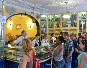 A pastelaria in Porto, home of the love affair tart of Lisbon, Portugal