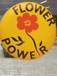 Flower Power still lives - at the De Young Summer of Love Exhibit, Golden Gate Park, San Francisco, Ca