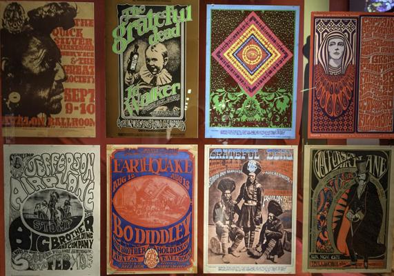 1967 Rock Posters, Summer of Love Exhibit, De Young Museum, Golden Gate Park, San Francisco, CA