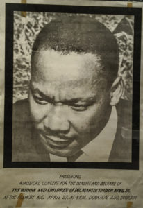1967 Martin Luther King Benefit Poster, Summer of Love Exhibit, De Young Museum, Golden Gate Park, San Francisco, CA