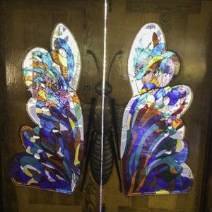 Art studio entrance to classes and art walks, Rancho La Puerta, Tecate, Baja California, Mexico