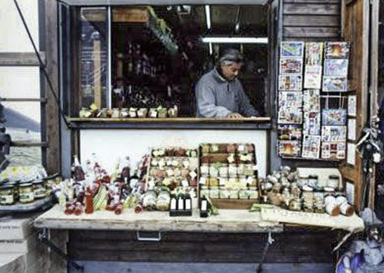 The Fire of Mount Etna, Antico Souvenir shop near the summit. This is where shop keeper, Enrico, offered samples of various olive oils.