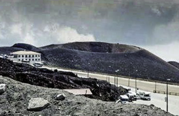 Refugio Sapienza on Mt. Etna, Italy home of the olive oil Fire on Mt. Etna
