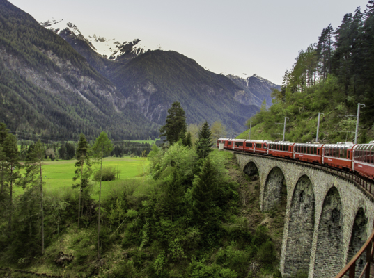 Switzerland, Swiss Travel Pass, The Bernina Express the Swiss Travel best way to travel through Switzerland