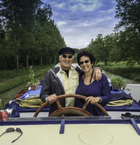 Barging with your sweetheart, European Waterways barge cruise, La Epoque barge, Burgundy, France