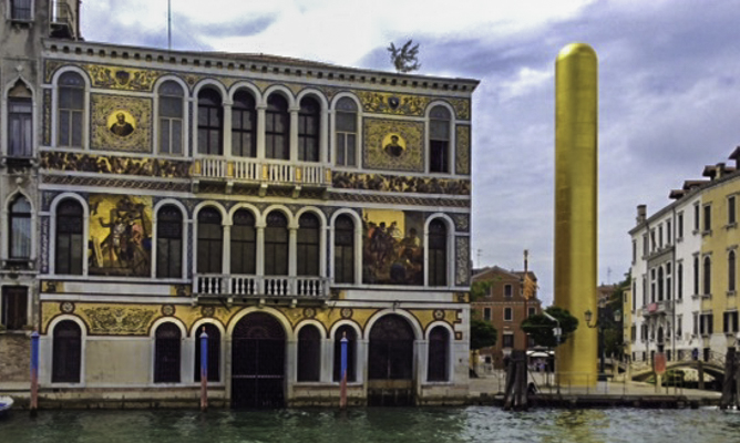 Palazzo from a vaporetto shows the magic spirit of Venice, Venice, Italy