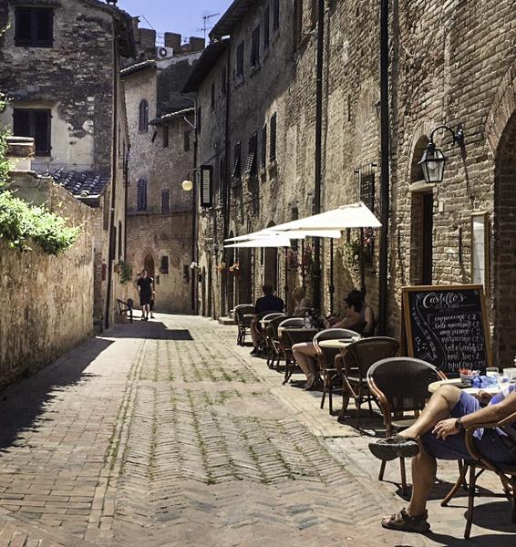 Certaldo in the chianti region of Tuscany, Italy