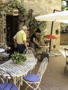 Certaldo cafe, Tuscany, Italy