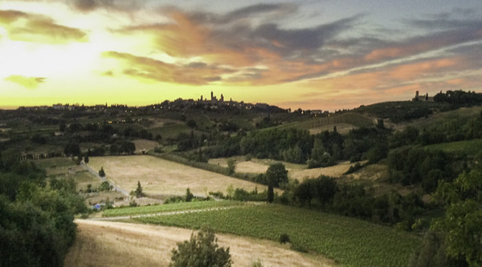 A slice of Tuscany, Sunset in Pogiacolle agriturisn, Tuscany, Italy