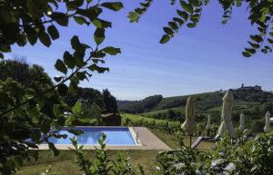 Swimming pool, Poggiacolle agriturismo, Tuscany, Italy