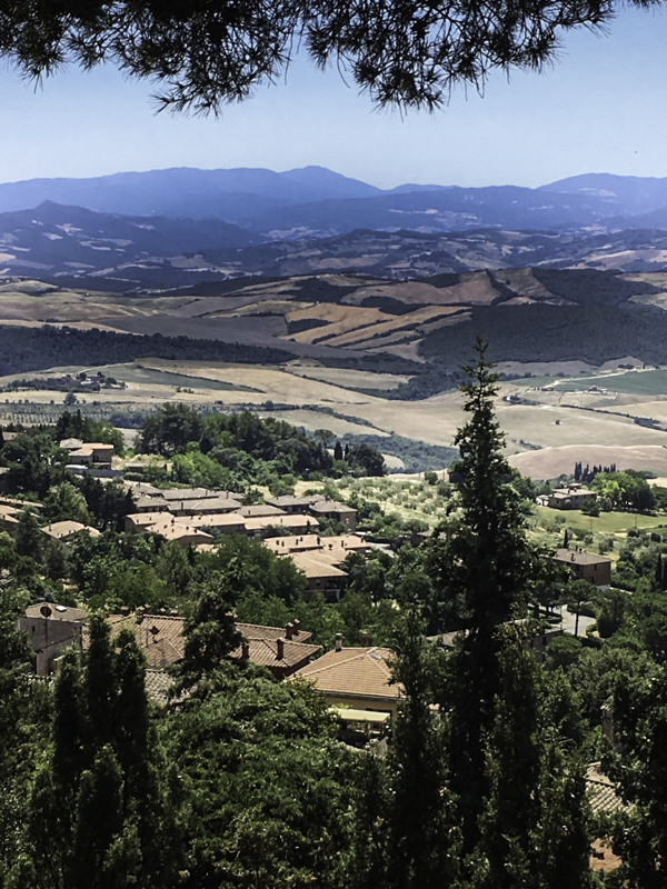 Tuscan valley view from the top of Volterra, Tuscany, Italy