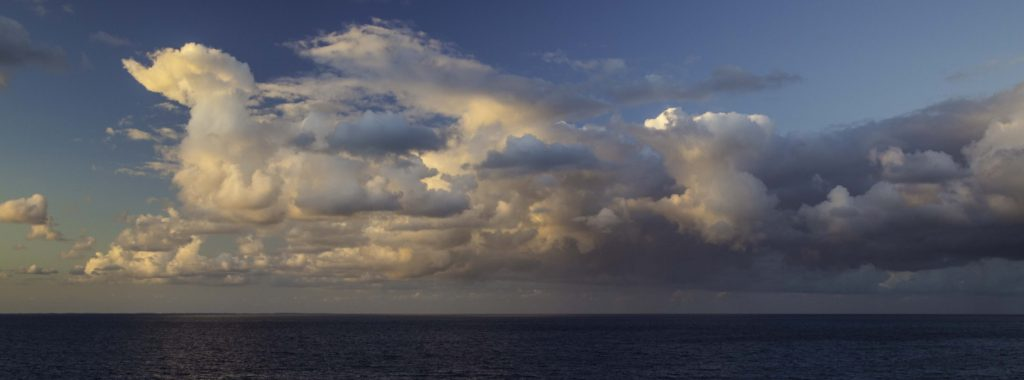 Ship board sunset from our veranda on Holland America Lines ms Nieuw Amsterdam during a Christmas curise of the Bahamas