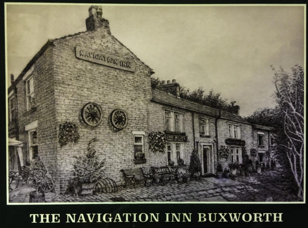 The historic Navigation Inn at Bugsworth Basin in Whaley Bridge, Cheshire Ring Canals, Cheshire, UK