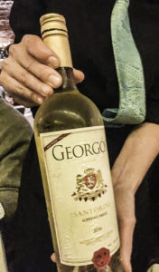 Georgós Nu Greek wine imported from Santorini captures the character of wines produced on the island of Santorini, Greece