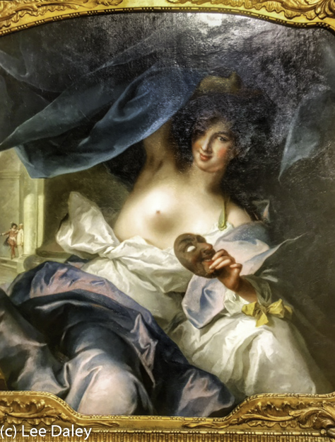 Thalia muse of comedy (Jean-Marc Nattier (French, 1685–1766), Casanova exhibit opening at the Legion of Honor museum, San Francisco