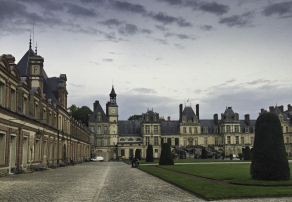 Chateau de Fontainebleau, Floating the Loire Canal on the Renaissance Barge, Burgundy, France