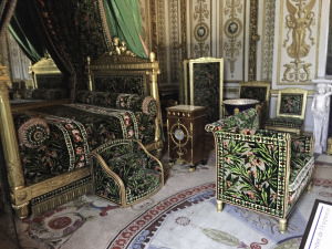 Chateau de la Bussiere, The Green Bedroom,Floating the Loire Canal on the Renaissance Barge, Burgundy, France