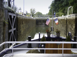 Sept écluses (seven locks), Briare Canal, Floating Along the Loire River Canal on the Renaissance Barge, Burgundy, France