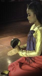 Mekong River cruise, Cambodian dancers performing aboard the Amadara